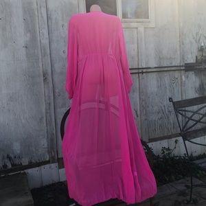 Fuschia pink gypsy glam dol Hollywood robe duster
